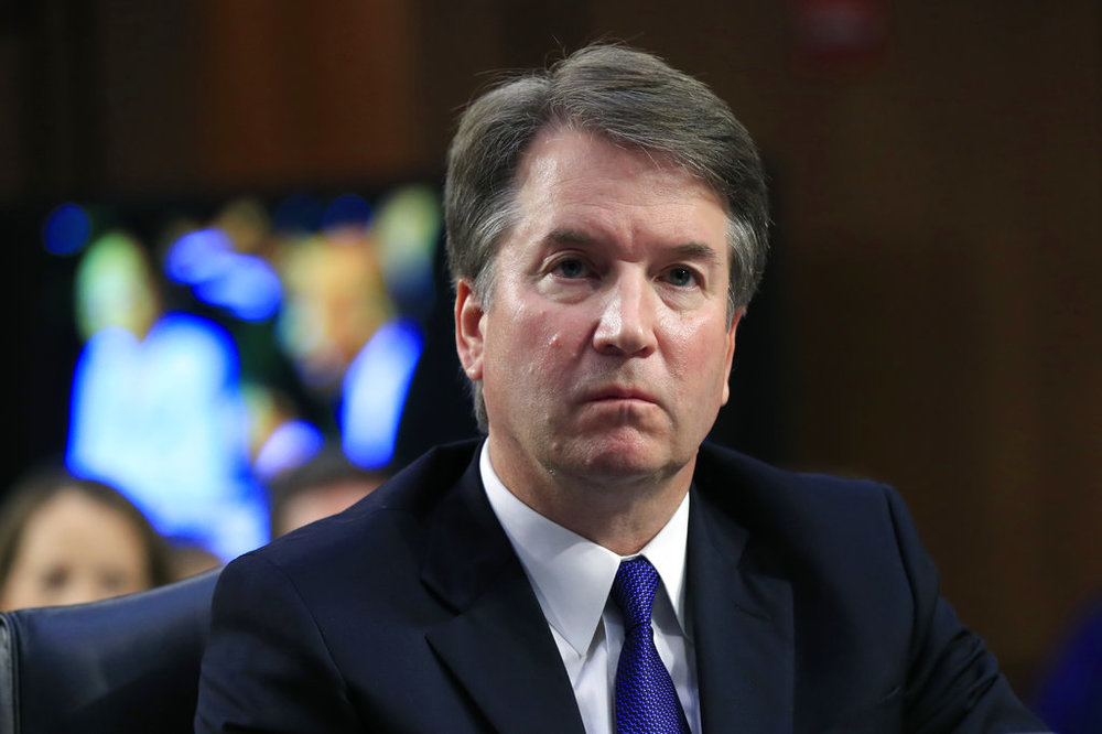 In this Sept. 4, 2018 photo, Supreme Court nominee Brett Kavanaugh, listens to Sen. Cory Booker, D-N.J. speak during a Senate Judiciary Committee nominations hearing on Capitol Hill in Washington. FBI agents interviewed one of the three women who have accused Kavanaugh of sexual misconduct as Republicans and Democrats quarreled over whether the bureau would have enough time and freedom to conduct a thorough investigation before a high-stakes vote on his nomination to the nation's highest court. (AP Photo/Manuel Balce Ceneta, File)