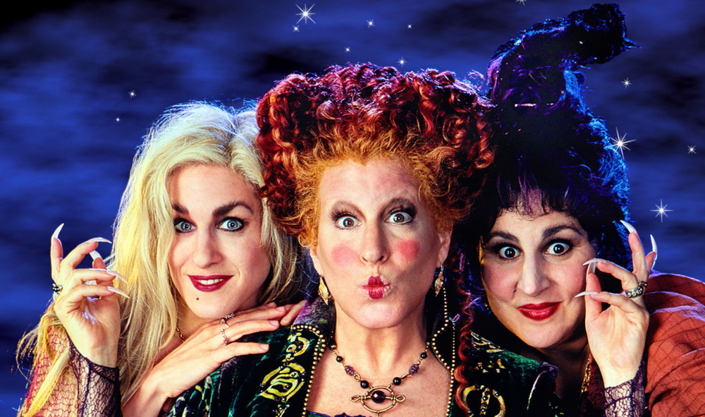 """Hocus Pocus"" will show no fewer than 28 times on Freeform this October, including from 7:30 a.m. through midnight on Halloween. (Disney/screenshot)"