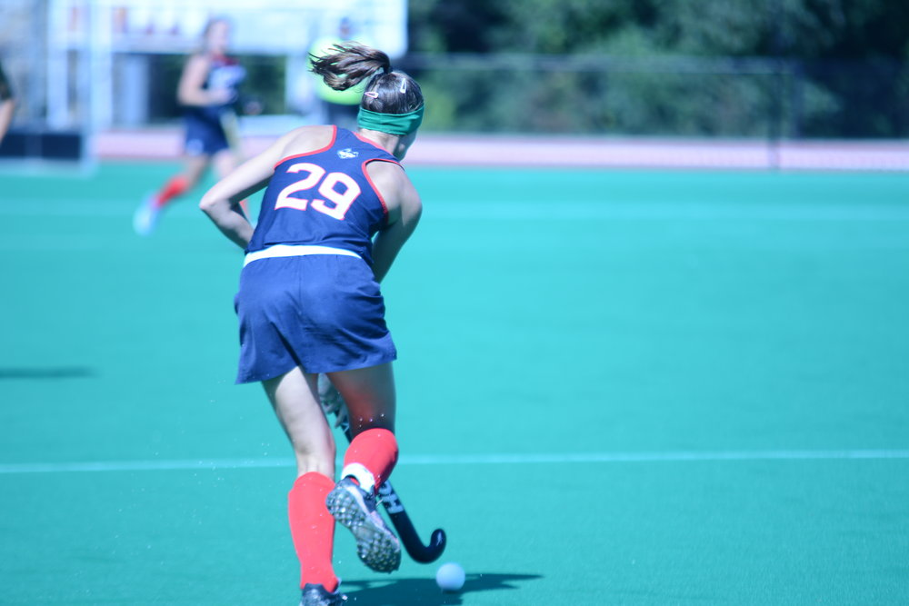 UConn's Field Hockey team faced Maryland for the first time this season, since their win over the Terrapins in last year's National Championship. The Huskies lost 4-2, scoring their points in the second half of the game. (Hanaisha Lewis/The Daily Campus)