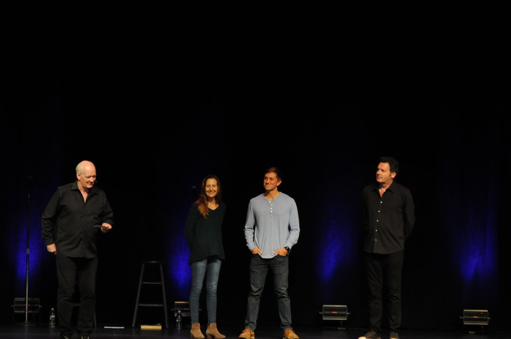 "Throughout the night, Mochrie and Sherwood performed many unscripted and unrehearsed skits using both audience suggestions and direct participation. When they needed a setting for their bit they would turn to members of the audience who shouted out things like ""a volcano,"" ""the international space station,"" ""Pocotopaug"" and even a fruit-bat hatchery. (Congyang An/The Daily Campus)"