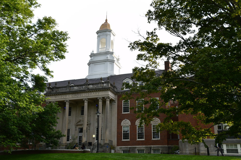 The Wilbur Cross Library is one the most recognizable buildings on the UConn Storrs campus. (Julie Spillane, Grab Photographer/The Daily Campus)