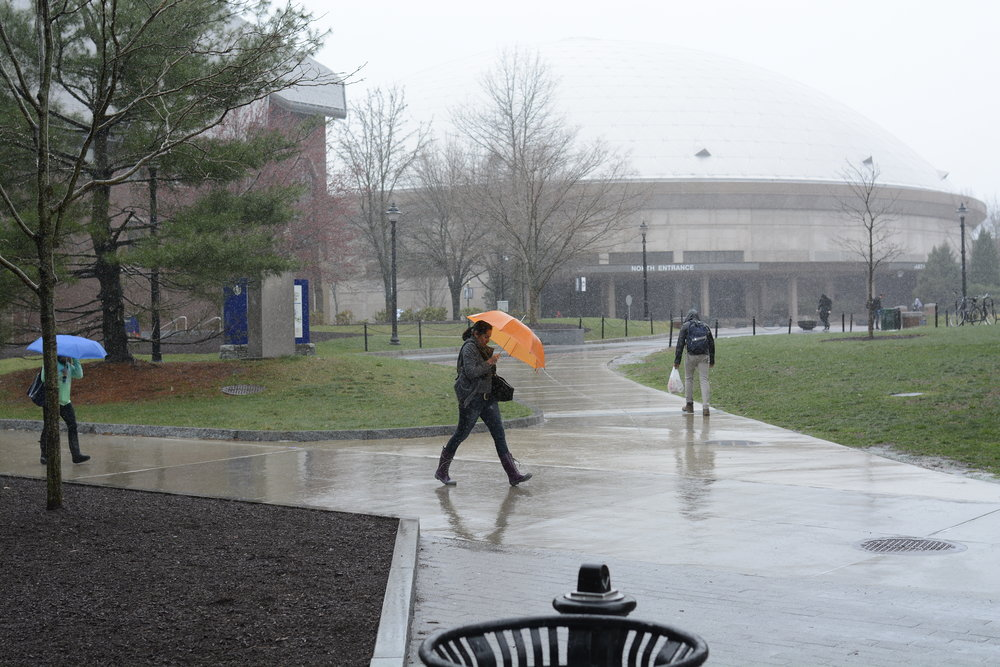 In September 2018, Storrs had 11.33 inches of precipitation, which is approximately seven inches above the average for that month, however that would mean each Tuesday would have around 2.75 inches each day. In September, the averages for the Tuesdays that it rained was .49 inches. (File photo/The Daily Campus)