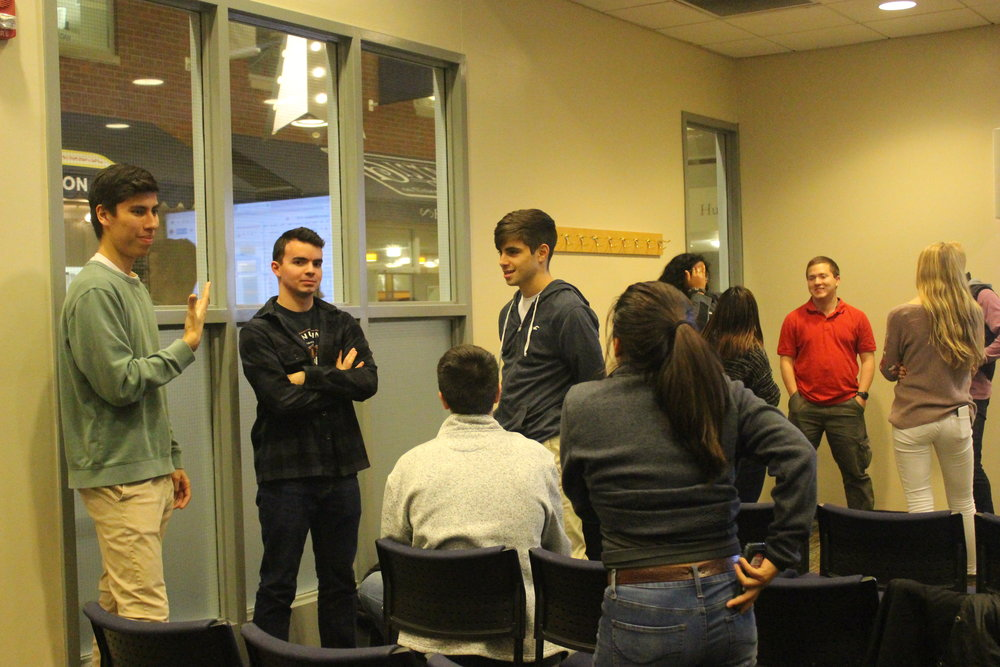 The first Undergraduate Student Government Caucus of the fall 2018 semester convened this evening in the Student Union. Elected Senators got to know each other with ice breaker before the official business started. (Erin Craig/The Daily Campus)
