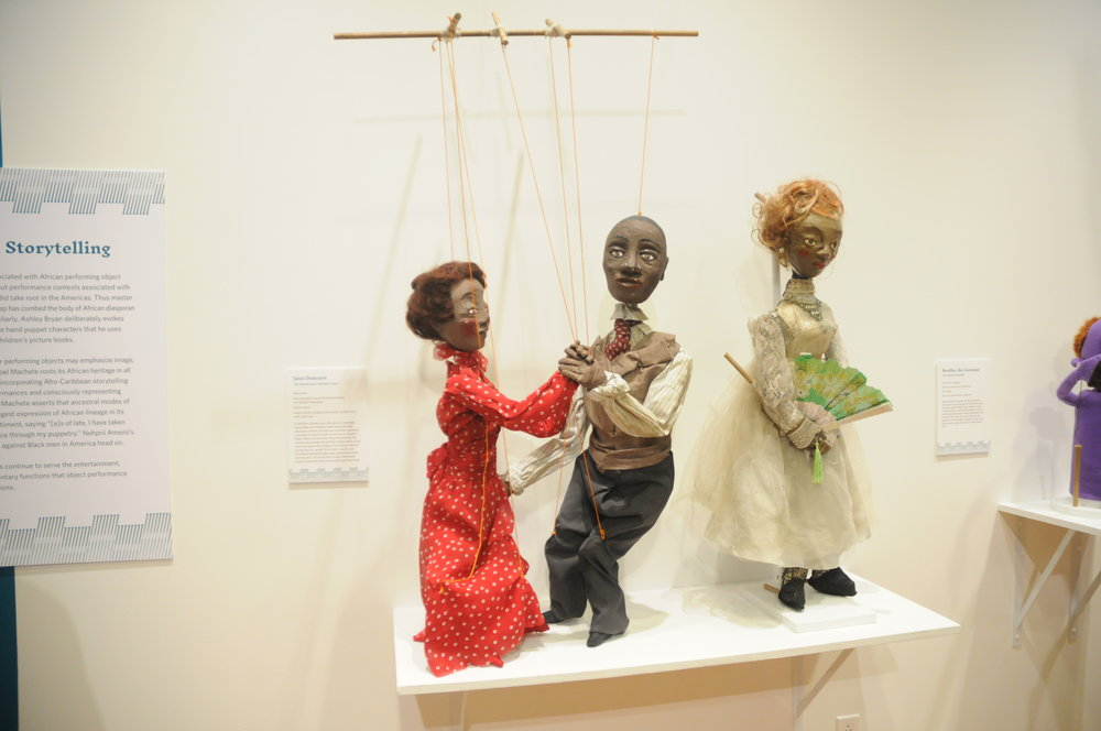 "The Ballard holds a reception for their new exhibit ""Living Objects: African American Puppetry"". It showcases work by African-American puppeteers whom have often been overlooked within the last century.10/25/18 New Ballard Exhibit by Brandon Barzola. (Photo by Brandon Barzola/The Daily Campus)"