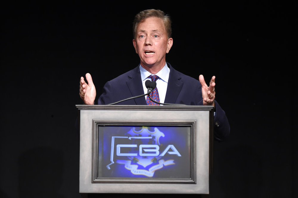 Democratic gubernatorial candidate Ned Lamont answers a question during the Connecticut Broadcasters Association gubernatorial debate, Thursday, Oct. 18, 2018 in Hartford, Conn. (Cloe Poisson/Hartford Courant via AP)