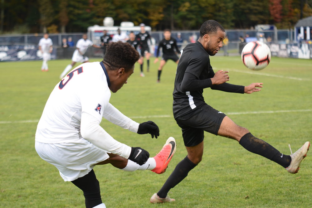 After honoring their seniors, the UConn men's soccer team dropped their final game at Morrone Stadium to SMU 2-0. Photo by Eric Wang, Staff Photographer/The Daily Campus