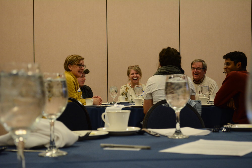 "UConn's Dialogue Initiative hosts ""Who's Afraid of 'Thanksgiving'?: How to Start Civil Dialogue in A Divided America with The People You Love"" in the Rome Commons Ballroom on November 1, 2018. Attendees of varying backgrounds and worldviews considered how to engage in civil dialogue with loved ones over dinner. (Photo by Judah Shingleton/The Daily Campus)"