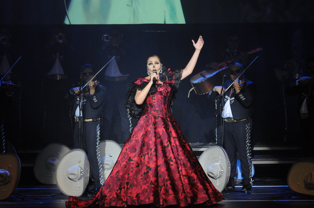 "Aida Cuevas, ""The Queen of Mariachi"" performs traditional mariachi music at Jorgensen at 7:30 pm Nov.1. Cuevas is esteemed and beloved figure in Mexico, seven Latin Grammy nominations in the ""Best Mariachi/Ranchero Album"" category. (Photo by Congyang An/The Daily Campus)"