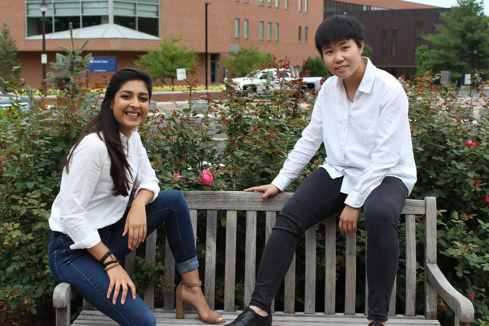 "The Daily Campus sat down with this year's Homecoming King and Queen, Qimei, or ""May"", Liu, a junior majoring in women's gender and sexuality studies and Mahika Jhangiani, a senior majoring in political science to reflect on Homecoming before, during and after the event. (Photos by Anhthy Pham)"