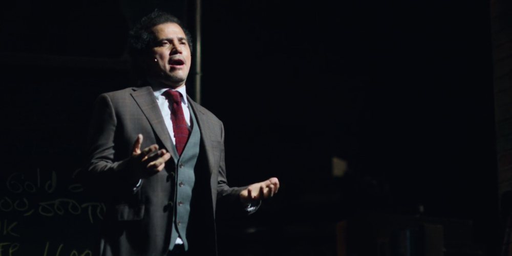 Actor and stand-up comedian, John Leguizamo, brings his one-man Broadway show to Netflix. It's centered around Leguizamo's story of self-reflection and self-education as he tries to help his bullied son. (screenshot/Netflix)