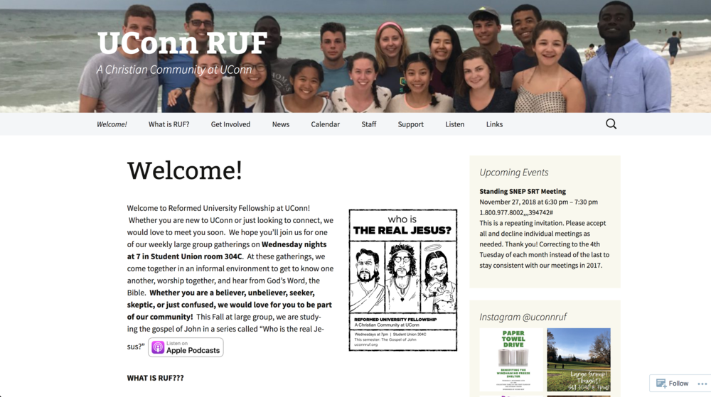 Barnes said RUF, a smaller Christian group on campus, hasn't held a fundraiser before but has been wanting to do something helpful that a group its size could manage. (Screenshot of  website )