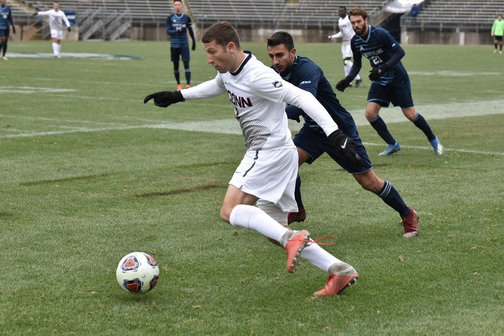 UConn Men's Soccer made a miraculous comeback to advance to the next round of the NCAA Tournament. (Eric Yang/ The Daily Campus)