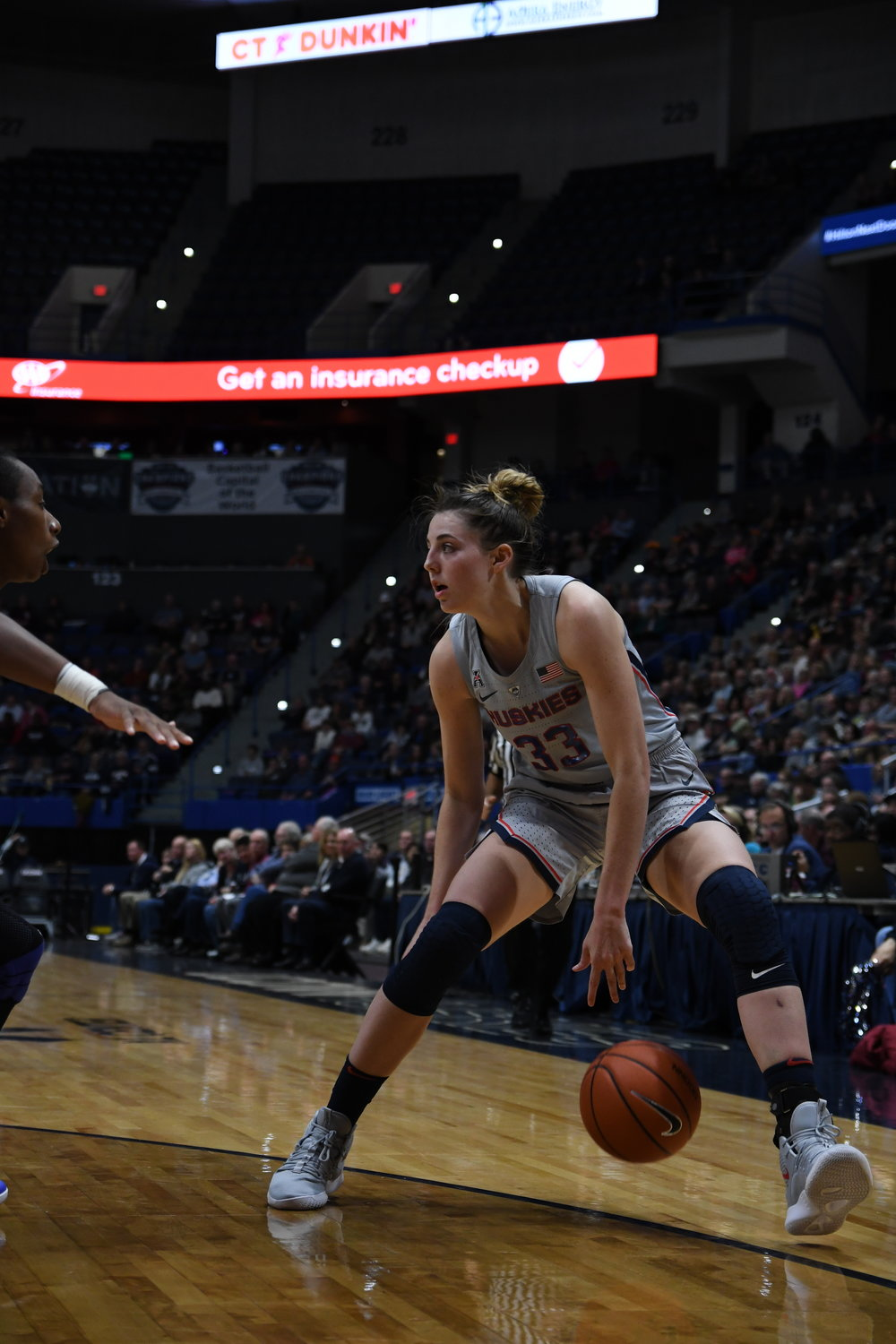 UConn overcame a slow start by Katie Lou-Samuelson during their 89-71 win against Notre Dame on Sunday night. (Judah Shingleton/ The Daily Campus)