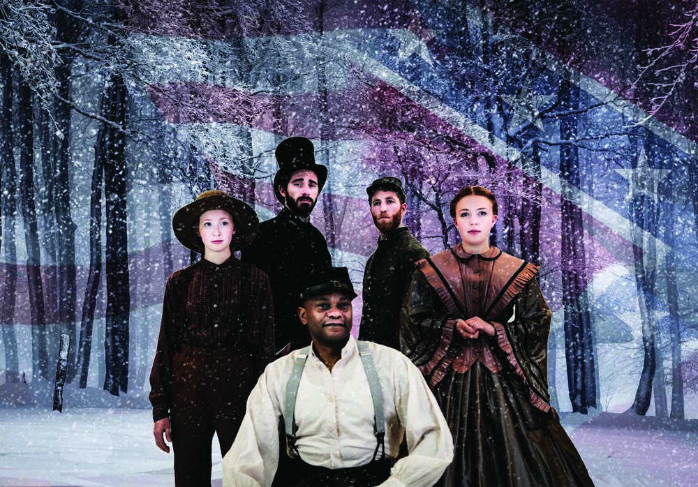 The most ill-conceived aspect of the play was its portrayal of slavery. This play exists in a world where slaves are reunited with their families and are invited to spend Christmas at the White House with President Lincoln. (Photo provided by writer)