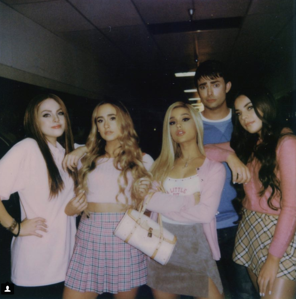 """Ariana Grande's iconic music video for """"thank u, next"""" references """"Mean Girls,"""" """"13 Going On 30"""", """"Bring It On"""" and """"Legally Blonde"""" as well as featuring some actors who starred in the original movies such as Jonathan Bennett who plays Aaron Samuels in """"Mean Girls."""" (@arianagrande/screenshot)"""