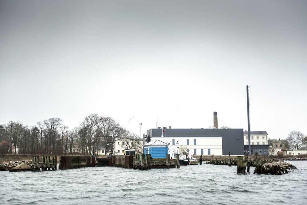 "A view of Lindholm island, Denmark, Thursday, Dec. 6, 2018. A pro-government lawmaker acknowledged that Danish plans to banish rejected asylum-seekers or those with a criminal record to a remote island may breach international law, but added that his party doesn't mind ""challenging (international) conventions."" (Mads Claus Rasmussen/Ritzau Scanpix via AP)"