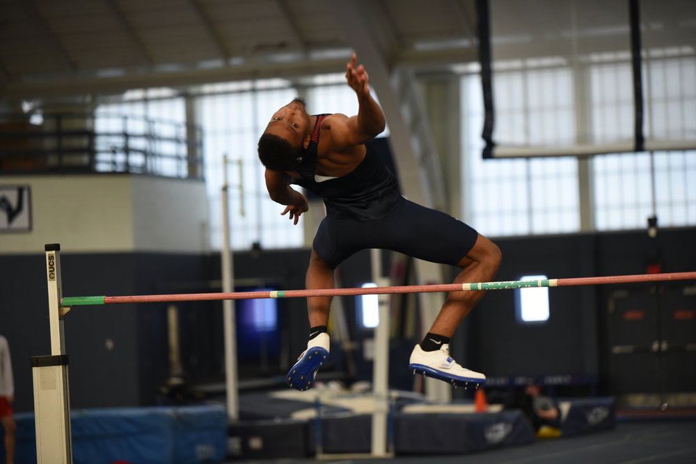 The UConn men's track and field team host a heptatholon in Hugh S. Greer Field House. It is a two day event that started on Thursday Dec 7 and will finish on Friday Dec 8 (Charlotte Lao/The Daily Campus)