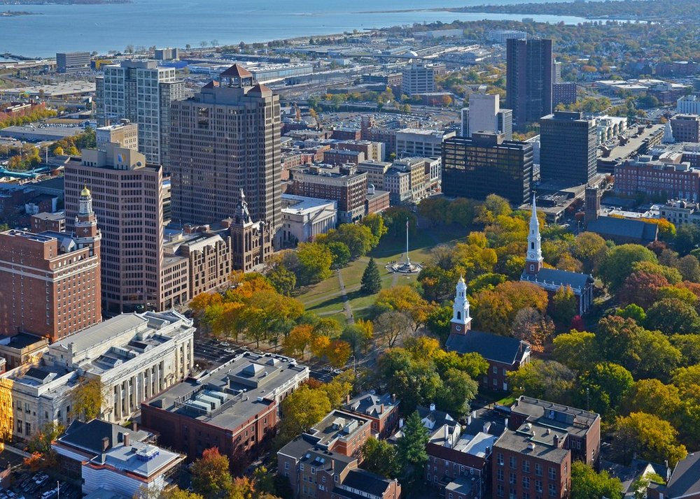 City of New Haven. (Photo Courtesy of New Haven Connecticut Aerial)