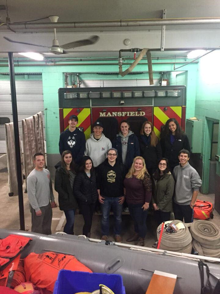 UConn Rescue.  Field Trip to Mansfield Fire Department ambulance.