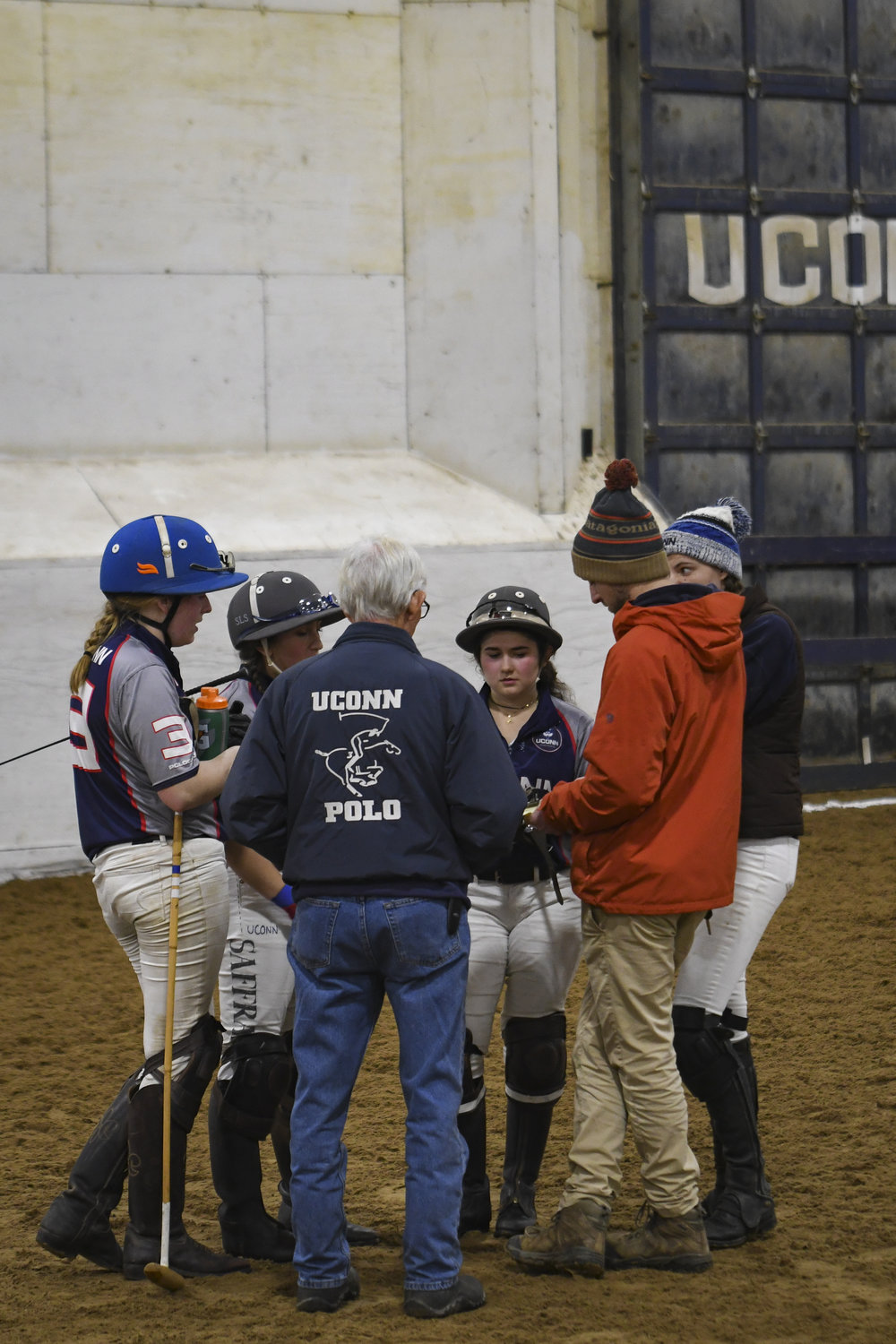 Varsity players Nicole Kula, Sage Saffran, Anders Carlton, and Julia Marrinan meet with their head coach Patrick Marinelli to reflect on their gameplay.