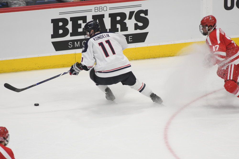 UConn Men's hockey team takes on No.2  Massachusetts Minutemen in Amherst this Tuesday (Photo by Kevin Lindstrom/The Daily Campus)