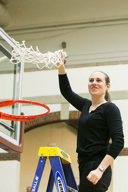 UConn basketball alumni Carla Berube has turned Tuft's women's basketball into a constant championship threat (Photo Courtesy of Kelvin Ma/Tufts University)