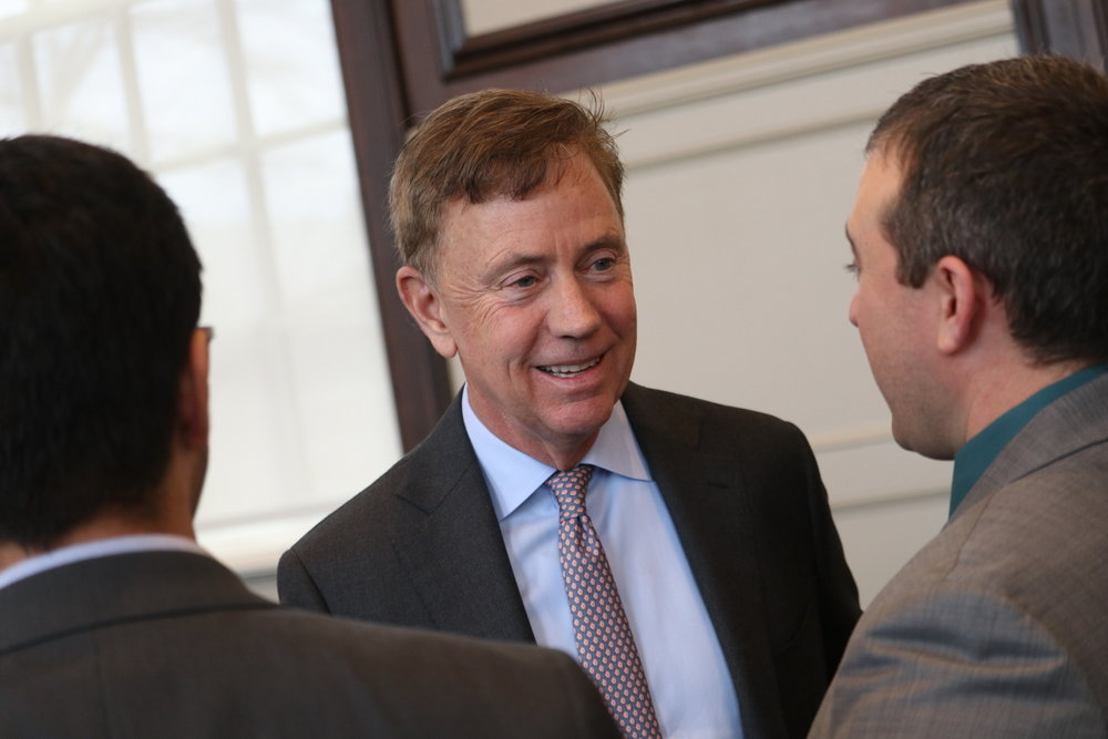 Governor Ned Lamont was at UConn earlier this year for the introduction of the university's new president (Judah Shingleton/The Daily Campus)