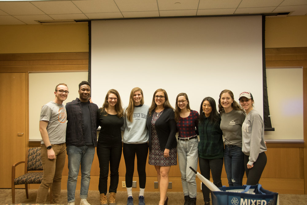 UConn Residence Hall Association hosted a Q&A with Connecticut Senator Mae Flexer in Homer Babbage Library, where she discussed her motivations to become involved in politics and activism. (Photo by Avery Bikerman/The Daily Campus)