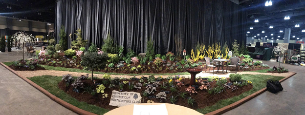 Another view of the Horticulture Club's landscape. (Photo via writer)