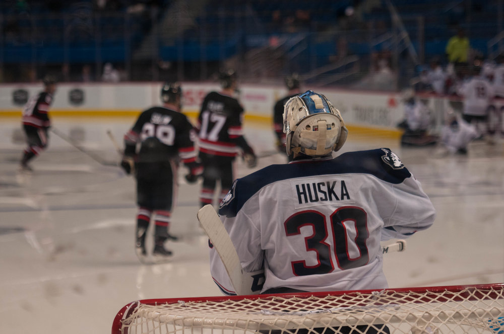 Adam Huska will leave UConn to sign with the New York Rangers. Photo by Eric Wang/The Daily Campus
