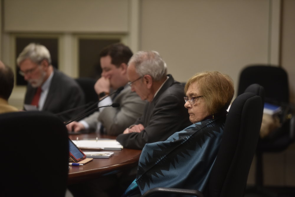 Members of the town councils meet to talk about a new possible parking system in the town of Mansfield (Eric Yang/The Daily Campus)