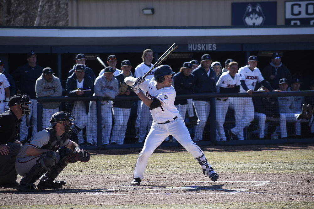 Shortstop Anthony Prato has played a huge role in the Huskies hot start to the season. Photo by Brandon Barzola/The Daily Campus