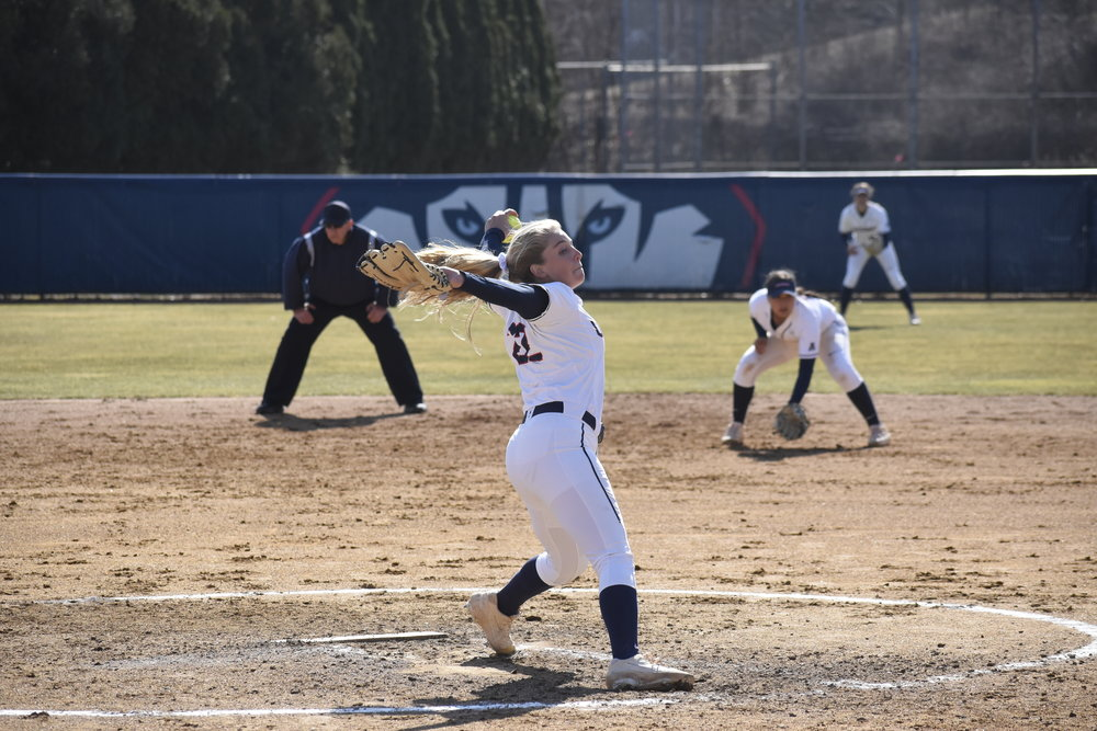 UConn's softball plays UMass Lowell with a final score of 3-13. They are currently at 13-19 for the season. (Photo by Brandon Barzola/The Daily Campus)