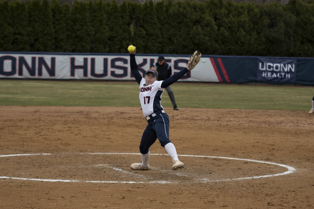 The UConn softball team got swept this weekend on their road trip to Texas, dropping three straight to Houston. (Eric Wang/The Daily Campus)