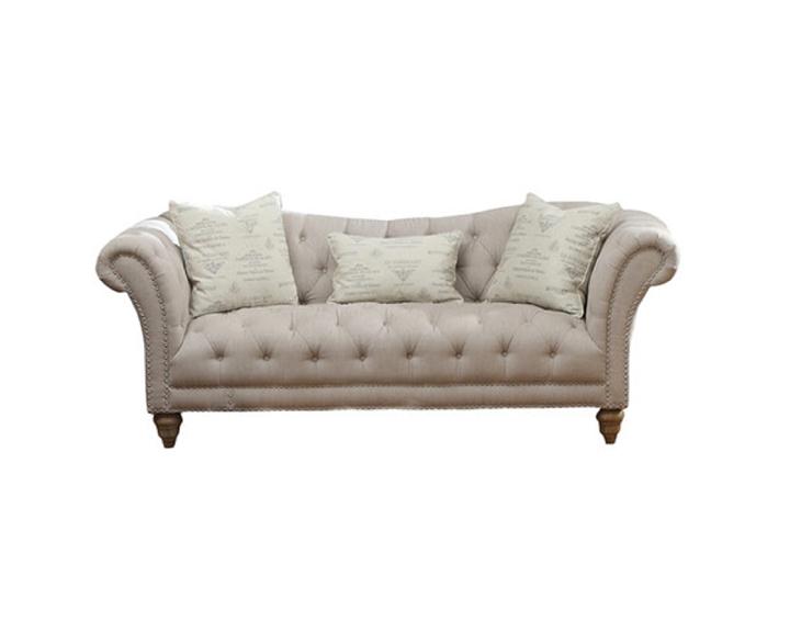 Linen Tufted Sofa — Wedding Blueprint