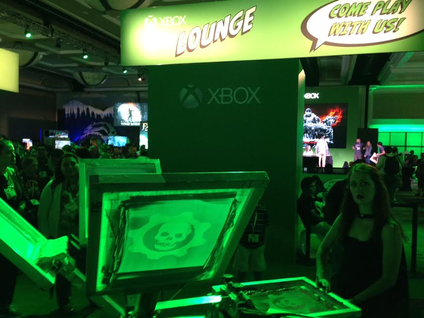 Live Screen Printing @ Comic Con with Xbox