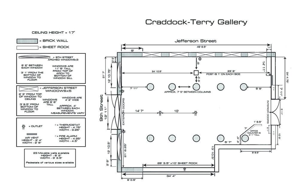 Craddock-Terry Gallery at Riverviews Artspace in Lynchburg, Virginia.