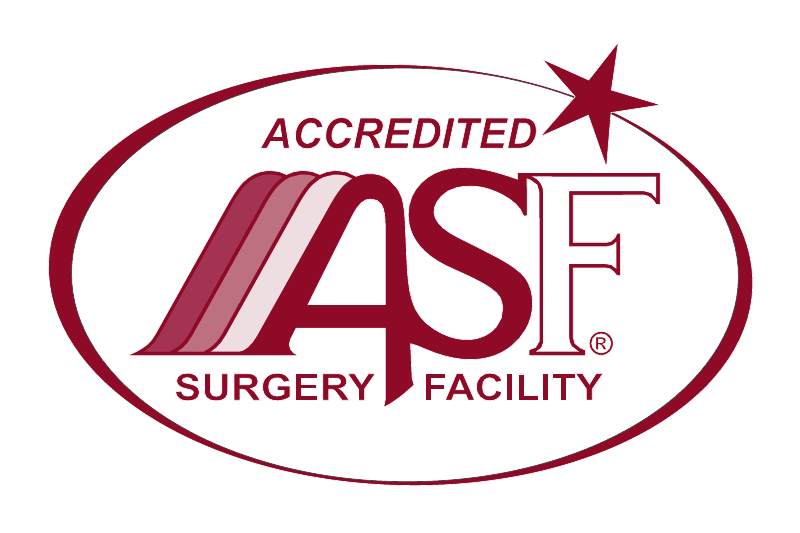 The AAAASF Symbol of Accreditation designates facilities which are accredited by the American Association for Accreditation of Ambulatory Surgery Facilities. Facilities which display this Symbol are dedicated to the highest standards of patient care.