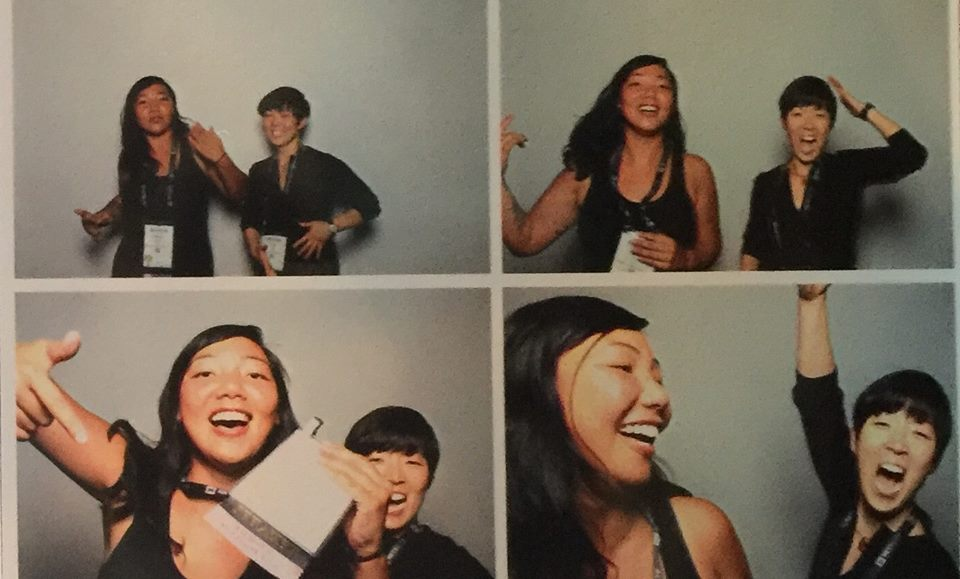 Siren's Katrina Hess and Susie Lee rock the photo booth at the Grace Hopper Celebration of Women and Computing, 2016