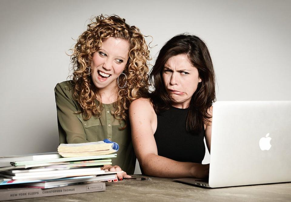 Alli and Jen find inspiration in the inherent absurdity of the internet. Photo by Lindsay May Cook.