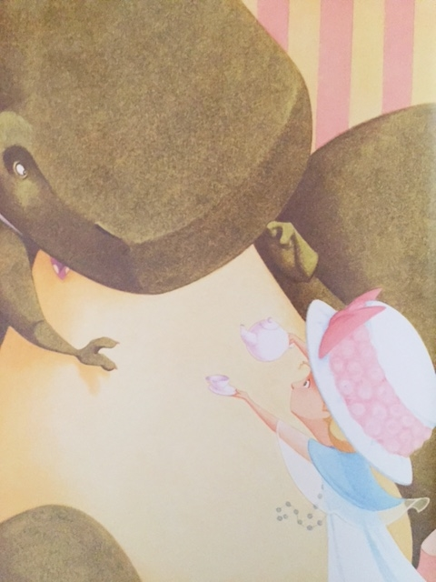 a tea party with a special guest tea rex by molly idle booktomato