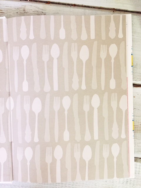 why do i love pretty end papers so much?!  love this silverware print!