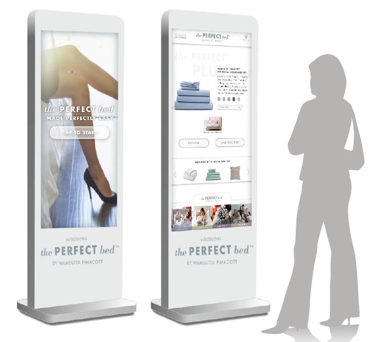 life-size interactive kiosk -