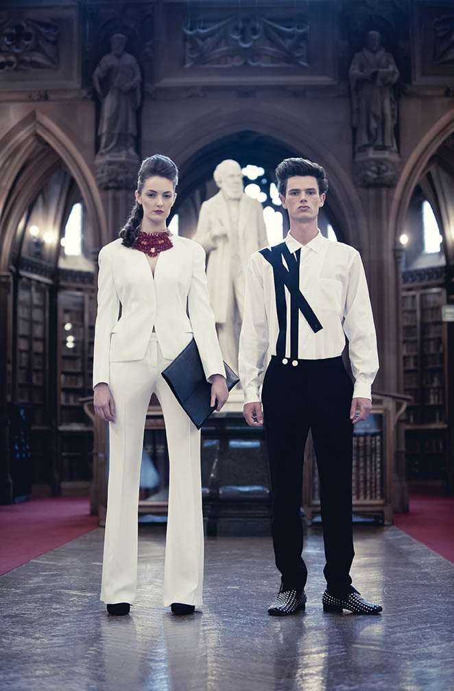 Fashion Editorial at Manchester's John Rylands Library