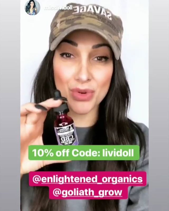 Follow @misslividoll and show her some love 💚 She was kind enough to interview us and highlight our new CBD company @enlightened_organics and talk about some of the exciting projects we have underway 🌱🌿 Watch her live feed to see the interview! . . . #organic #hemp #CBD #cbdoil #lividoll #organicfarming #csa #herbal #medicine #vegan #glutenfree #thc #terpenes #cannabiscommunity #interview #ReapWhatYouSow #GoliathGrow