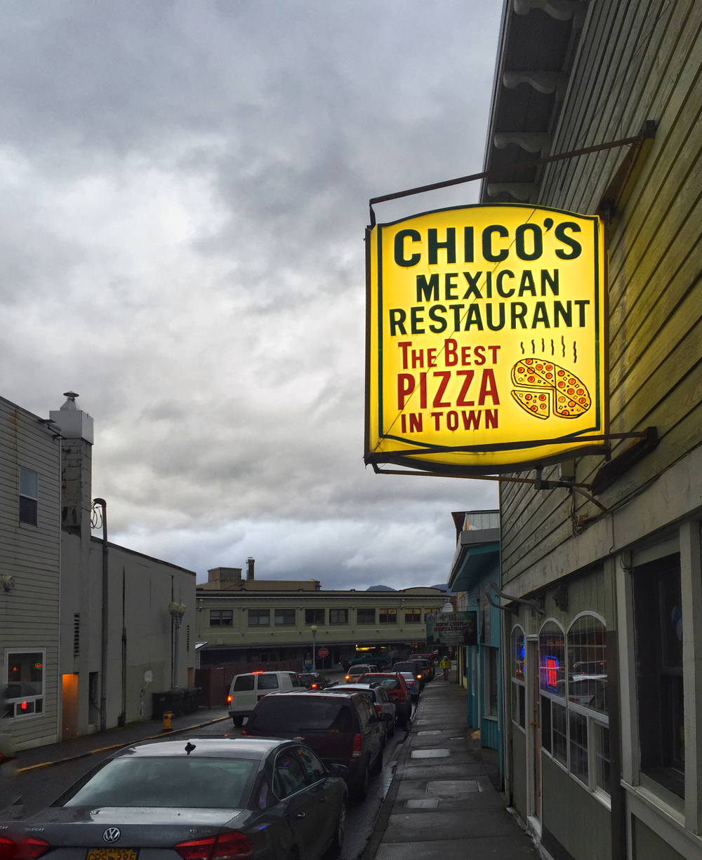 Chico's! That sign is misleading. It's also the best Mexican food in town. Thanks again, Patty! The chimichanga was amazing!