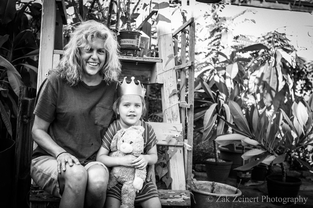 Tracy and her granddaughter Juniper