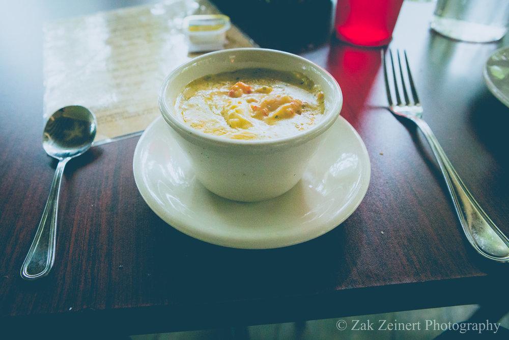Crawfish Bisque at Cafe Jefferson