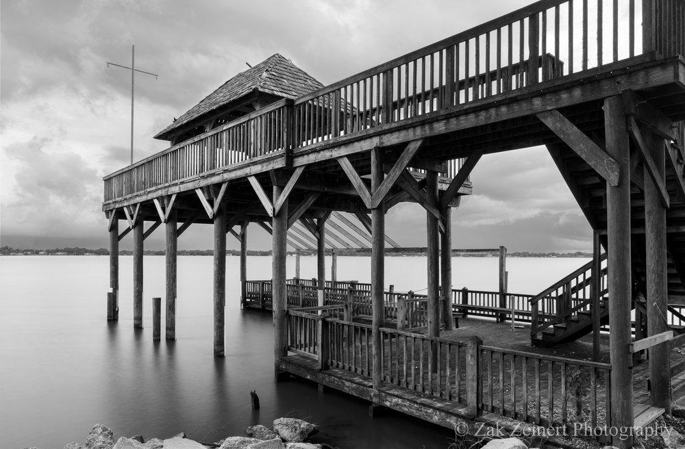 Old pier at Rip Van Winkle Gardens