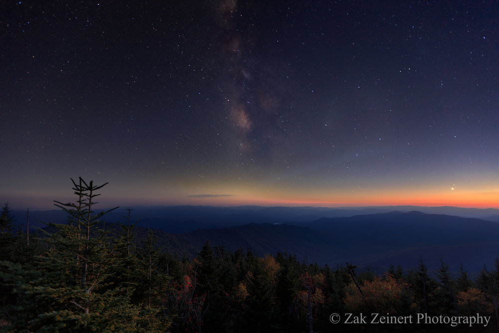 The Milky Way over the Great Smoky Mountains